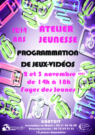 Atelier Jeunesse : programmation de jeux vidéos